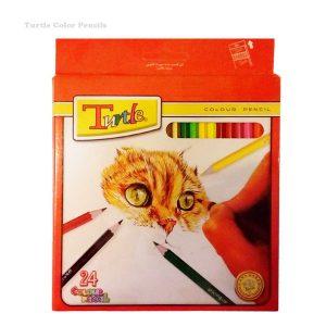 مداد رنگی 24 رنگ لاک پشتی