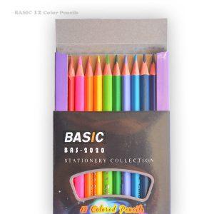مدادرنگی ۱۲ رنگ Basic جعبه مقوایی