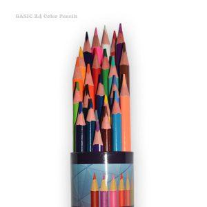 مدادرنگی 24 رنگ BASIC لوله ای