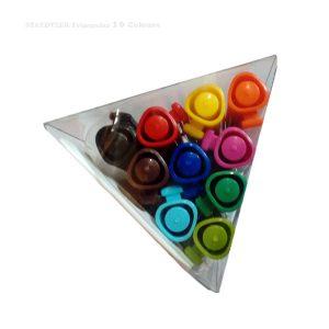 روان نویس 10 رنگ استدلر مثلثی