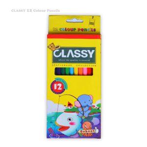 مداد رنگی 12 رنگ CLASSY