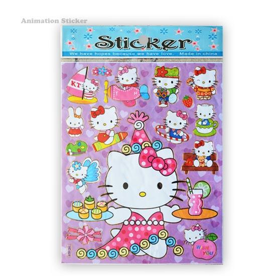 استیکر کارتونی طرح کیتی Hello Kitty
