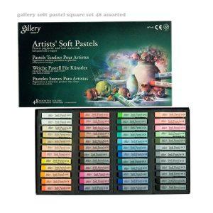 پاستل گچی 48 رنگ گالری