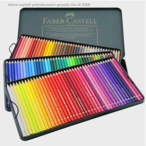 مداد رنگی 120 رنگ فابر کاستل مدل پلی کروم