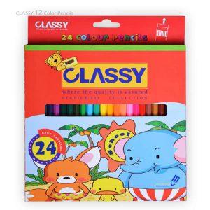 مداد رنگی 24 رنگ CLASSY