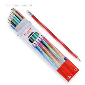 مداد مشکی پاک کن دار CLASSY