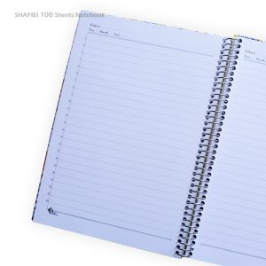دفتر جلد سخت 100 برگ شفیعی طرح کوبیسم