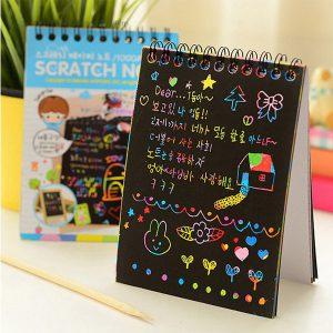 دفترچه جادویی رنگین کمانی سایز کوچک