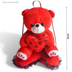 عروسک خرس و قلب