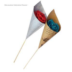 گل کاغذی تزئینی ولنتاین