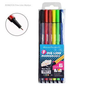 روان نویس نوک نمدی 6 رنگ RONGTAI ارزان RONGTAI-Fine-Line-Marker