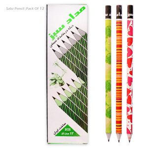 مداد روزنامه ای سبز مشابه با مداد بیست (بسته 12 عددی)|تحریر20|خرید ارزان قیمت لوازم تحریر