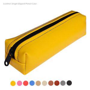 جامدادی چرم رنگی - زرد